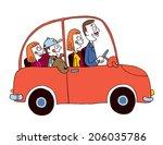 family car | Shutterstock . vector #206035786