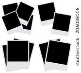 set photo frames isolated.... | Shutterstock . vector #206038558