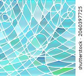 abstract vector stained glass... | Shutterstock .eps vector #2060397725