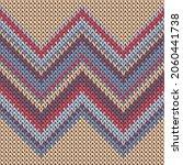 handicraft zig zal lines... | Shutterstock .eps vector #2060441738