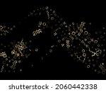 gold geometric confetti vector... | Shutterstock .eps vector #2060442338