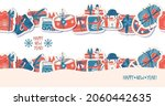seamless banners with christmas ... | Shutterstock .eps vector #2060442635