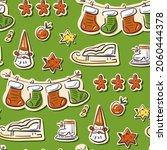seamless christmas pattern in... | Shutterstock .eps vector #2060444378