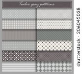 set of twelve gray vector... | Shutterstock .eps vector #206045038