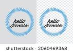 hello november lettering... | Shutterstock .eps vector #2060469368