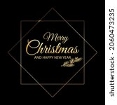 christmas greeting text in a... | Shutterstock .eps vector #2060473235
