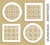 templates for laser cutting ... | Shutterstock .eps vector #2060476025