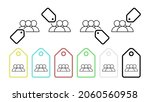 pupils class vector icon in tag ...