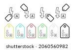 auto flash vector icon in tag...