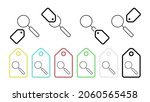 magnifier vector icon in tag...