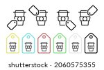 coffee vector icon in tag set...