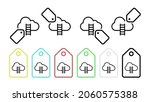 cloud ladder vector icon in tag ...