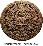 Aztec Calendar   On A White...