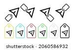 cursor vector icon in tag set...