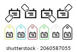 note schedule vector icon in...