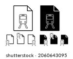 Train Station Sign Vector Icon...