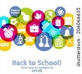back to school illustration | Shutterstock .eps vector #206066635