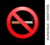 No Smoking Sign. Vector...