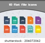 file icon set   colorful flat...