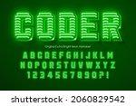neon light 3d alphabet  retro...   Shutterstock .eps vector #2060829542
