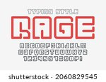 futuristic display letters...   Shutterstock .eps vector #2060829545