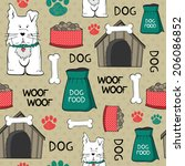 beauty seamless pattern with... | Shutterstock .eps vector #206086852