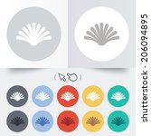 sea shell sign icon. conch... | Shutterstock .eps vector #206094895