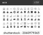 wien. collection of perfectly... | Shutterstock .eps vector #2060979365