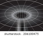 space time distortion around a... | Shutterstock .eps vector #206100475