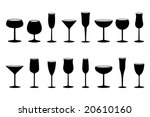 glasses black and white... | Shutterstock .eps vector #20610160