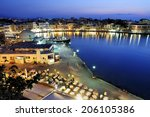 chania  town on crete island in ... | Shutterstock . vector #206105386