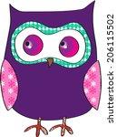 owl | Shutterstock . vector #206115502