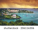 st. john  us virgin island at... | Shutterstock . vector #206116306