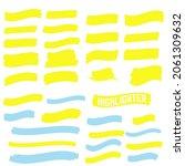 highlighter elements. yellow... | Shutterstock . vector #2061309632