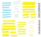highlight marker lines.... | Shutterstock . vector #2061309635