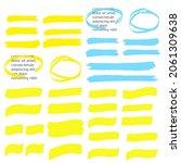 marker marks. yellow marker... | Shutterstock . vector #2061309638