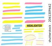 highlight yellow strokes.... | Shutterstock . vector #2061309662