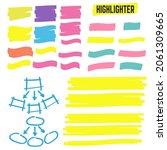 highlighter elements. yellow... | Shutterstock . vector #2061309665