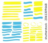 highlight marker lines.... | Shutterstock . vector #2061309668
