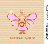 little fairy with heart in... | Shutterstock . vector #206131942