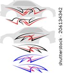 vehicle graphics  stripe  ... | Shutterstock .eps vector #206134342