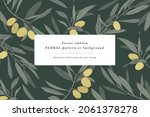 vintage card with olive...   Shutterstock .eps vector #2061378278