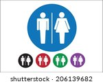 pictogram man woman sign icons  ... | Shutterstock .eps vector #206139682