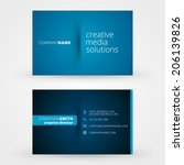 business card template vector...   Shutterstock .eps vector #206139826