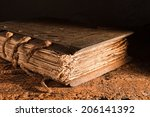medieval book of more than 300... | Shutterstock . vector #206141392
