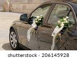 A Black Wedding Car Decorated...