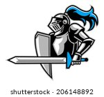 knight with a big sword | Shutterstock .eps vector #206148892