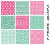 cute patterns set design.... | Shutterstock .eps vector #206152936