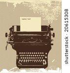 grunge typewriter  vector design | Shutterstock .eps vector #20615308