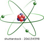 atom model of lithium with...   Shutterstock . vector #206154598